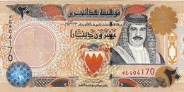 """BAHRAIN 20 DINARS 2001  P-24 EXF """"free Shiping Via Registered Air Mail"""" - Bahreïn"""