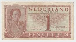 NETHERLANDS 1 GULDEN 1949 VF Pick 72 - [2] 1815-… : Koninkrijk Der Verenigde Nederlanden