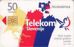 SLOVENIA SCHEDA TELEFONICA Integrated Graphic Image Of Telekom Slovenije - Schede Telefoniche