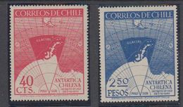 Chile 1947 Antarctica Chilena 2v ** Mnh (40784) - Chili