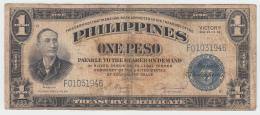 Philippines 1 Peso 1944 VF Victory Over Japan WW 2 - Series B Pick 94 - Filipinas