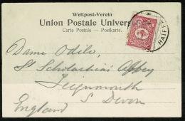 RB 1226 -  1904 Postcard Mont Carmel With Turkey Stamp Cancelled Haiffa - Palestine Israel Middle East - Brieven En Documenten