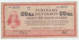Suriname 50 Cents 1940 AVF Pick 104c  104 C - Surinam