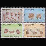TANZANIA 1988 - Scott# 441-4 Musical Instru. Set Of 4 MNH - Tanzania (1964-...)