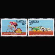 TANZANIA 1990 - Scott# 640-1 Racings 30-40s MNH - Tanzania (1964-...)
