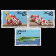 TANZANIA 1990 - Scott# 643-5 Racings 100-300s MNH - Tanzania (1964-...)