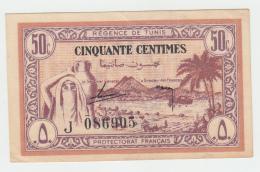 TUNISIA 50 CENTIMES 1943 VF++ PICK 54 - Tunisia