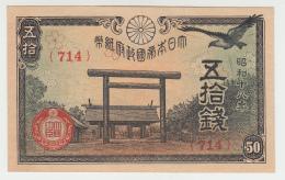 JAPAN 50 SEN 1942-44 UNC NEUF Pick 59 - Japon
