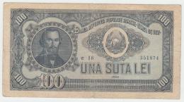 Romania 100 LEI 1952 VG Pick 90b - Romania