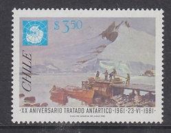 Chile 1981 Antarctic Treaty 1v ** Mnh (40784B) - Chili
