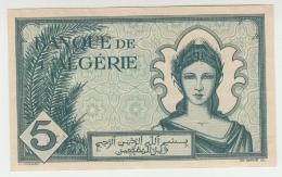ALGERIA 5 Francs 1942 AUNC+ Pick 91 - Algeria