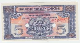 British Armed Forces 5 Shillings 1948 UNC NEUF Pick M20d M20 D - Emissions Militaires
