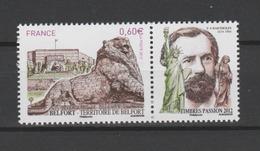 FRANCE / 2012 / Y&T N° 4697 ** : Lion De Belfort (avec Vignette Bartholdi) - Gomme D'origine Intacte - France