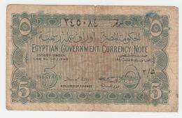 Egypt 5 Piastres 1940 VG+ Banknote Pick 163 - Egipto