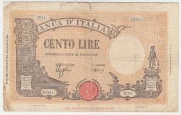 Italy 100 Lire 1943 G-VG Pick 67a  67 A - [ 1] …-1946 : Kingdom