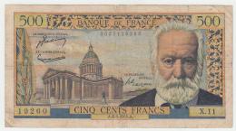 France 500 Francs 1954 VG Pick 133a 133 A - 1871-1952 Anciens Francs Circulés Au XXème