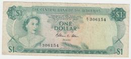 Bahamas 1 Dollar 1974 VF Pick 35b 35 B - Bahamas