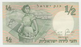 ISRAEL 1/2 LIRA 1958 UNC NEUF Pick 29 - Israel