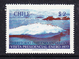 Chile 1977 Visit President Antarctica 1v ** Mnh (40784E) - Zonder Classificatie