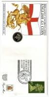 RB 1226 -  GB 1987 £1 Coin Cover - English £1 Coin & £1 Stamp - Pontyclun - 1971-…: Dezimalwährungen