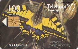 SLOVENIA SCHEDA TELEFONICA Lastovičar / Stop - FARFALLA - Schede Telefoniche