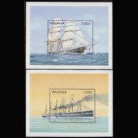TANZANIA 1999 - Scott# 1821-2 S/S Old Ships MNH - Tanzania (1964-...)