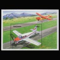 TANZANIA 1999 - Scott# 1866 S/S Plane MNH - Tanzania (1964-...)