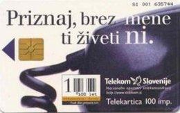 SLOVENIA SCHEDA TELEFONICA Priznaj, Brez Mene Ti Živeti Ni - Schede Telefoniche