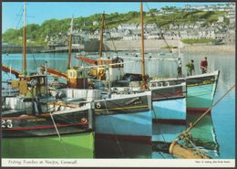 Fishing Trawlers At Newlyn, Cornwall, C.1970s - John Hinde Postcard - England