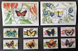 Ghana 1990* Mi.1354-63  Butterflies [24;1] - Papillons