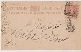 Inde Entier Postal 1888. Scan R/V - Inde
