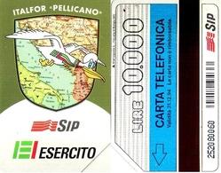 "TARJETA TELEFONICA DE ITALIA. ITALFOR ""PELLICANO"", EJERCITO, 10000 LIRAS. (123) - Armada"