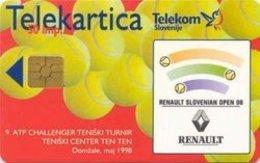 SLOVENIA SCHEDA TELEFONICA Tenis Slovenian Open 98 - Schede Telefoniche