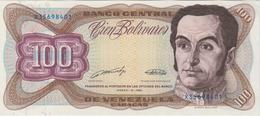 Banknote Venezuela 100 Bolívares - Simón Bolívar - Capitolio Nacional - Coat Of Arms - 1989 - Venezuela