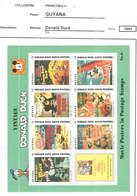 Guyana PO 1993 Disney Donald Duck  S/s Scott.2774 See Scan On Scott.Page - Guiana (1966-...)