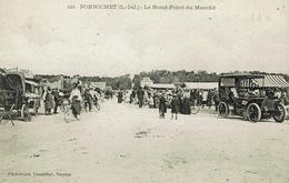 Pornichet (67), Le Rond-Point Du Marché, Jolie Carte - Pornichet