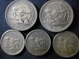 """MONACO . Louis II . LOT De 5 Jetons Du """"Crédit Foncier De Monaco"""" (1924 : 4 Et 1926 : 1) Atelier De Poissy . - Monetary /of Necessity"""