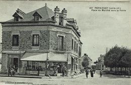 Pornichet (72), Place Du Marché Vers La Poste, Très Jolie Carte - Pornichet