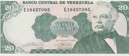 Banknote Venezuela 20 Bolívares - José Antonio Paez - Altar De La Patria - Carabobo - Coat Of Arms - 1988 - Venezuela
