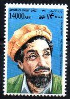 Afghanistan 2002 Joint Issue With France Commandant Ahmad Shah Massoud Masood Afghan National Hero Yvert N°1549 - Emissions Communes