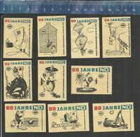 20 JAHRE ND ( NEUES DEUTSCHLAND ) Old Matchbox Labels Former DDR - 1966 - Boites D'allumettes - Etiquettes