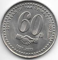 *pakistan 20 Rupee 2011 60 Years China Unc - Pakistán