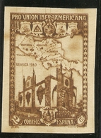 Edifil 567s* Mh  Sin Dentar   2 Ctos. Castaño  Unión Ibero Americana 1930  NL049 - Unused Stamps