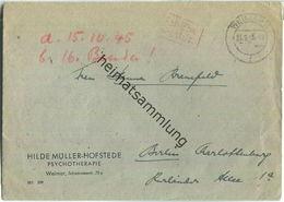 Brief Aus Weimar Vom 21.09.1945 Mit 'Gebühr Bezahlt' Stempel B5a In Rot - Zone Soviétique