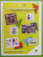 Calendrier Programme Philatélique 2018 - Emissions Du Second Semestre - Phil@poste - Documenti Della Posta