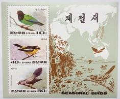 1996 North Korea Stamps Seasonal Birds MS - Korea, North