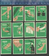 PERLON (serie 2) Old Matchbox Labels Former DDR - Boites D'allumettes - Etiquettes