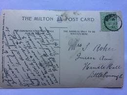 GB - Edward VII 1911 Postcard - Rare Norden Thimble Postmark - 1902-1951 (Kings)