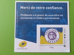 Timbre Monde Autocollant La Poste 2016 - Timbre Personnalisé Cadeau à Tirage Limité - Phil@poste - France