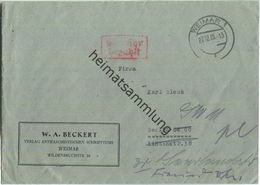 Brief Aus Weimar Vom 27.12.1945 Mit 'Gebühr Bezahlt' Stempel B5a In Rot - Weiterleitung - Zone Soviétique
